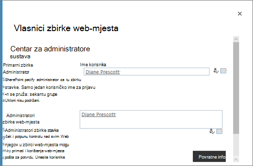 Upravljanje vlasnicima na OneDrive