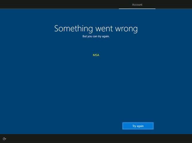 screenshot of issue
