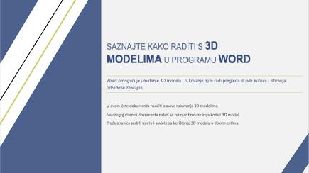 Snimka zaslona s prikazanom naslovnicom 3D predloška programa Word