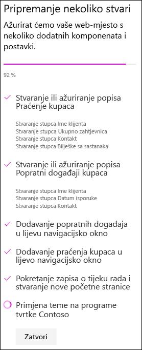 Timsko web-mjesto sa statusom prilagođenog dizajna