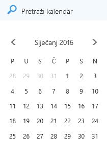 Okvir za pretraživanje kalendara