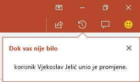 PowerPoint za Office 365 pokazuje tko je unosio izmjene u zajedničkoj datoteci dok ste bili odsutni