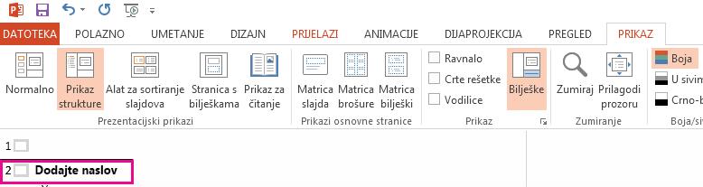 2 slajdova sadrže naslov.