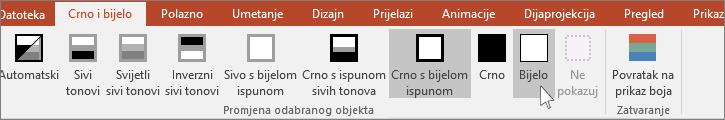 pokazuje odabranu stavku Promijeni na izborniku za objekte u aplikaciji PowerPoint