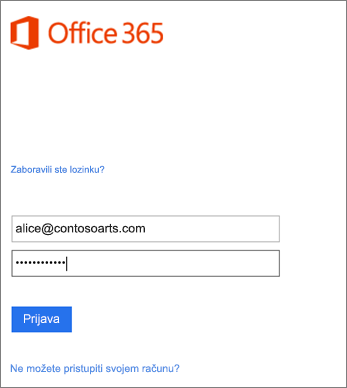 Prijava na račun tvrtke ili ustanove u programu Outlook