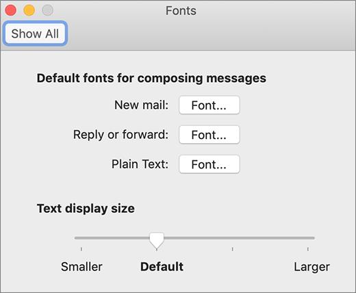 Dijaloški okvir Fontovi