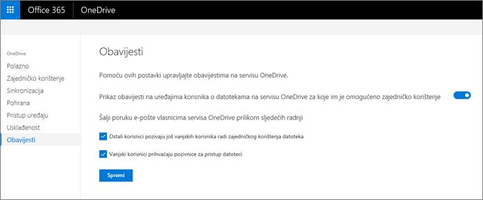 Kartica obavijesti o centru za administratore servisa OneDrive