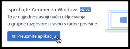 U proizvoda poruka za Windows