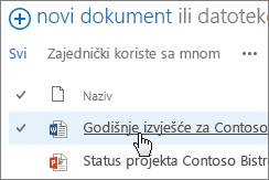 Klikom otvorite dokument