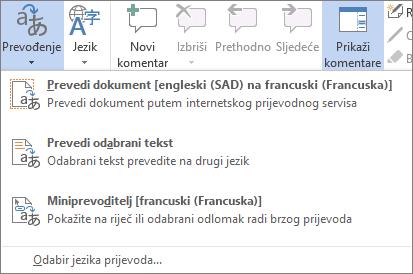 Prevođenje dokument ili poruku