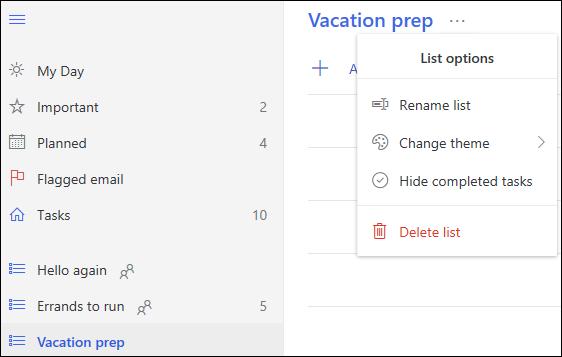 Dodatne mogućnosti popisa