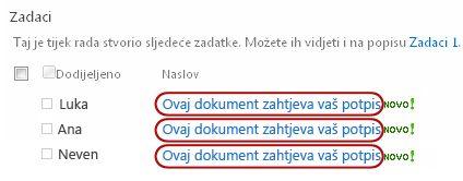 Prepoznavanje teksta u naslovu zadatka na web-stranici stanja tijeka rada