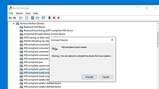 Instaliranje upravljačkog programa za dodirni ekran u skladu s HID protokolom