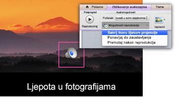 Skrivanje ikone tijekom projekcije