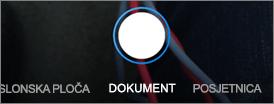 Mogućnosti skeniranja za servis OneDrive za iOS