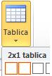 Umetanje tablice mogućnost