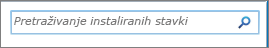 Okvir za pretraživanje sustava SharePoint 2010 pretraživanje instalirano stavki