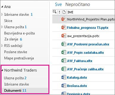 Poštanski sandučić web-mjesta u programu Outlook
