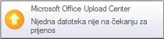 Skočno upozorenje komponente Upload Center