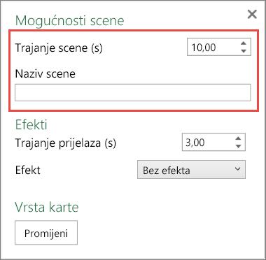 Kontrola trajanja scene