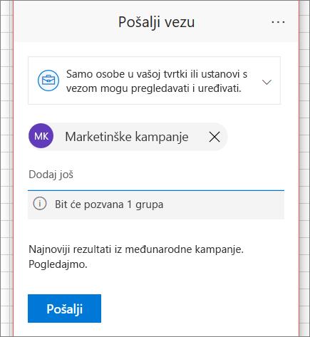 Zajedničko korištenje datoteka