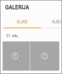 Šifrirana datoteka slike u aplikaciji Galerija.