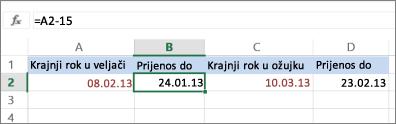 izračun datuma