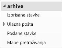 Proširite datoteku arhive u navigacijskom oknu da biste vidjeli njezine podmape.