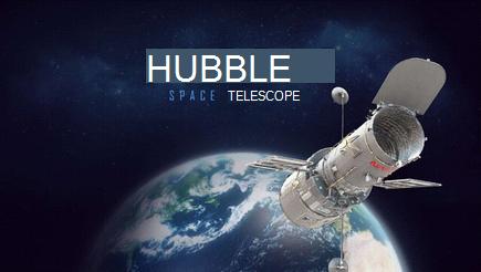 Konceptualna slika pokriva 3D Hubble prezentacije