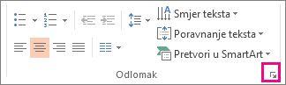 slika vrpce programa powerpoint