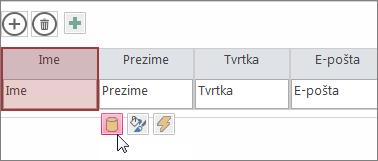 promjena dizajna podatkovne tablice pomoću gumba za uređivanje dizajna