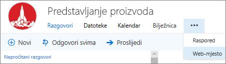 Grupa navigacijsku traku u programu Outlook
