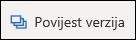 Gumb povijest verzija na vrpci na servisu OneDrive