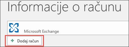 Outlook 2016 – dodavanje računa