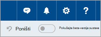 Uključivanje beta-verzija sustava Outlook.com