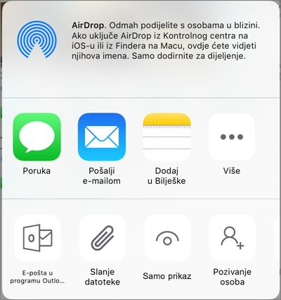 Zajedničko korištenje na servisu OneDrive