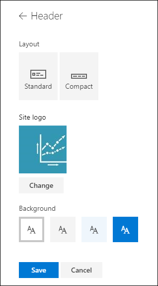 Raspored zaglavlja stranice web-mjesta sustava SharePoint