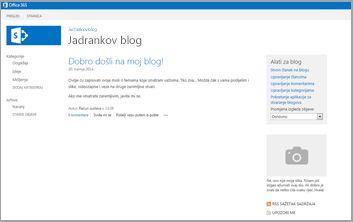 Predložak web-mjesta za blogove