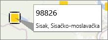 Bilješka s poštanskim brojem u dodatku PowerMap