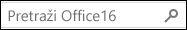 Pretraživanje sustava Office 16