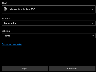 Ispis PDF-a
