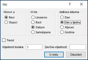 Unesite Excel > Mogućnosti nizova