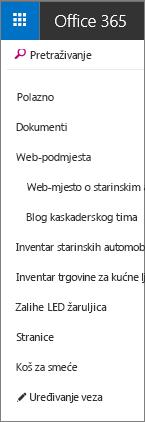 SharePoint Online QuickLaunchBar