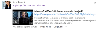 Videozapis servisa YouTube ugrađen u objavu sažetka sadržaja vijesti