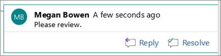 Dodavanje komentara u programu Word