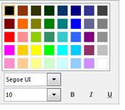 Snimka zaslona s prozorom za promjenu fonta