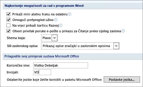 Popularne mogućnosti programa Word 2007