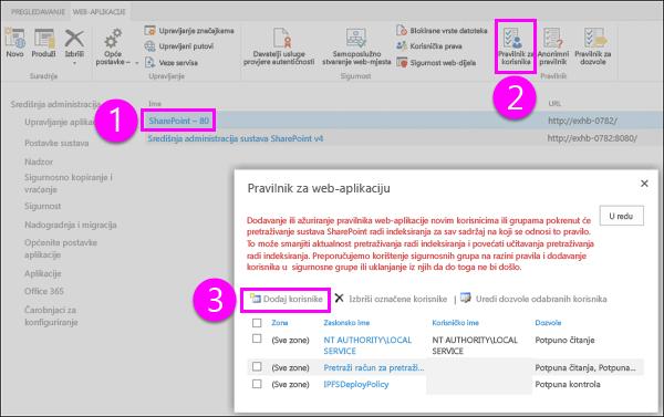 Pravila za dijaloški okvir web-aplikacije