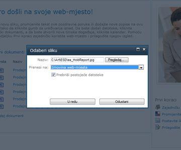 Dodavanje slike na web-mjesto