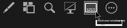 Gumb za uključivanje ili isključivanje titlova u prikazu izlagača